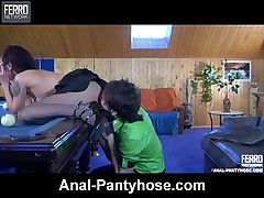 Mima and Rolf anal pantyhose movie
