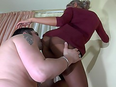 Nora and Adam live pantyhose show