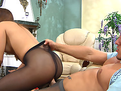 Jessica together with Govard mindblowing anal pantyhose mistiness