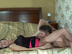 Kathleen together with Frank nasty pantyhose action