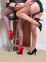 Jane and her girlfriend licking and touching legs