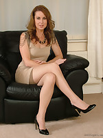 Alison gets your fetish going at home in their way silky nylon stockings and sharp high heels