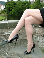 This stunner loves to win her high heels extensively in a catch full view