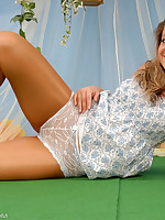 Celina be passed on fairy in shiny pantyhose