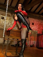 Glass toy and latex in the dungeon