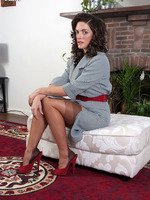 Rebekah Dee super brunette black skivvies striptease