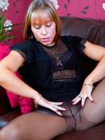 Scottish blonde with a pantyhose kink!