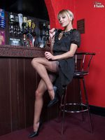 Zoe strips approximately the pub to say no to nylons and frigs say no to self!