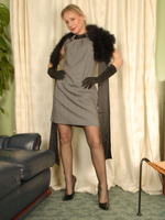 Matchless back from an interview, mature MILF Tiffany shows off her job seeking outfit, coupled with tells even so her black ff nyloned legs coupled with spikey stiletto heels made quite an impact!