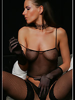 Mistress Diana in sexy Fishnet Stockings