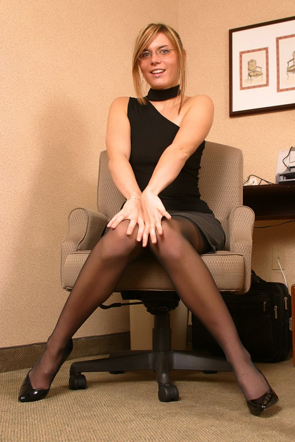 Sexy secretary fuck on office desk