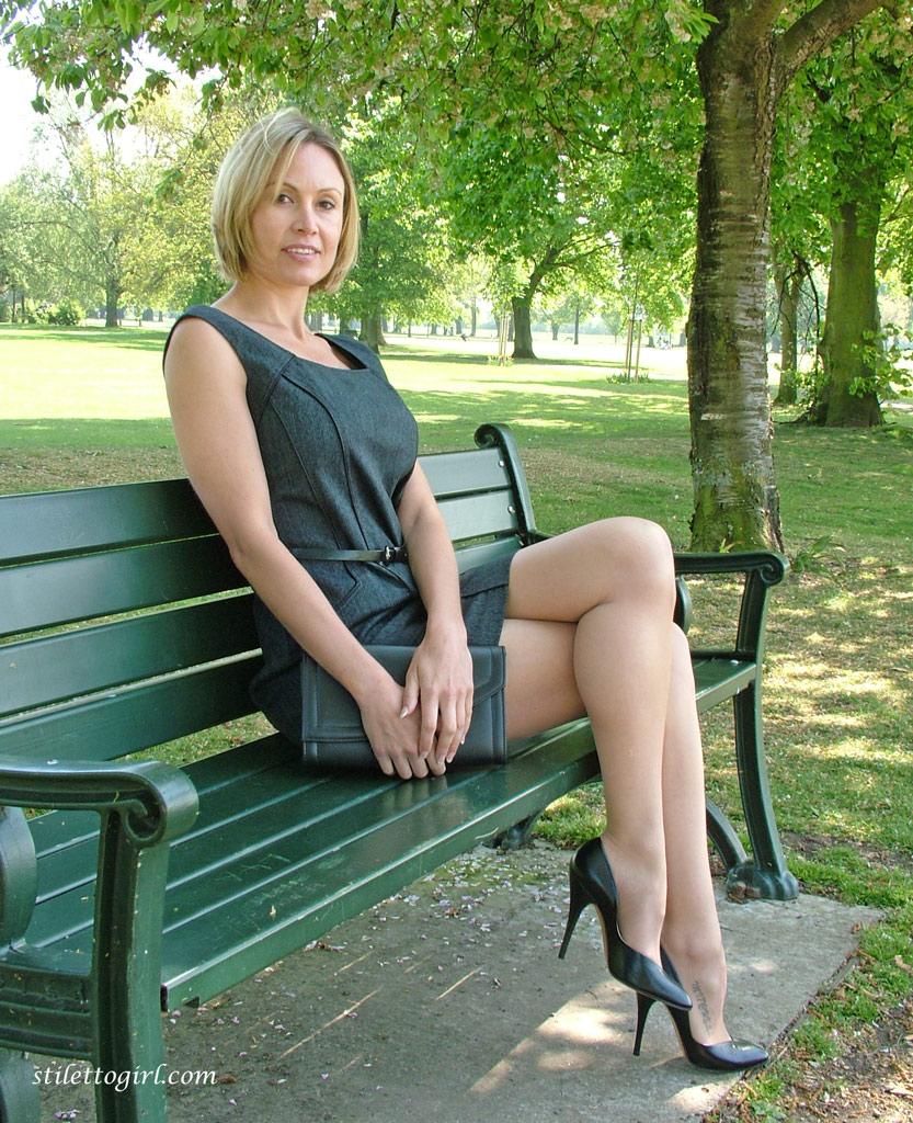 Nude older women outdoors